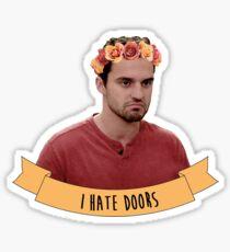 Nick   I Hate Doors Sticker