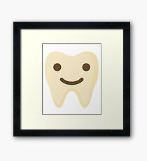 Teeth Happy Smiling Face Framed Print