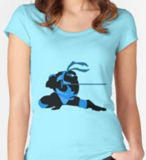 Leonardo (Teenage Mutant Ninja Turtles) Women's Fitted Scoop T-Shirt