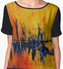 """Cafe Delight"" Women's Chiffon Top"