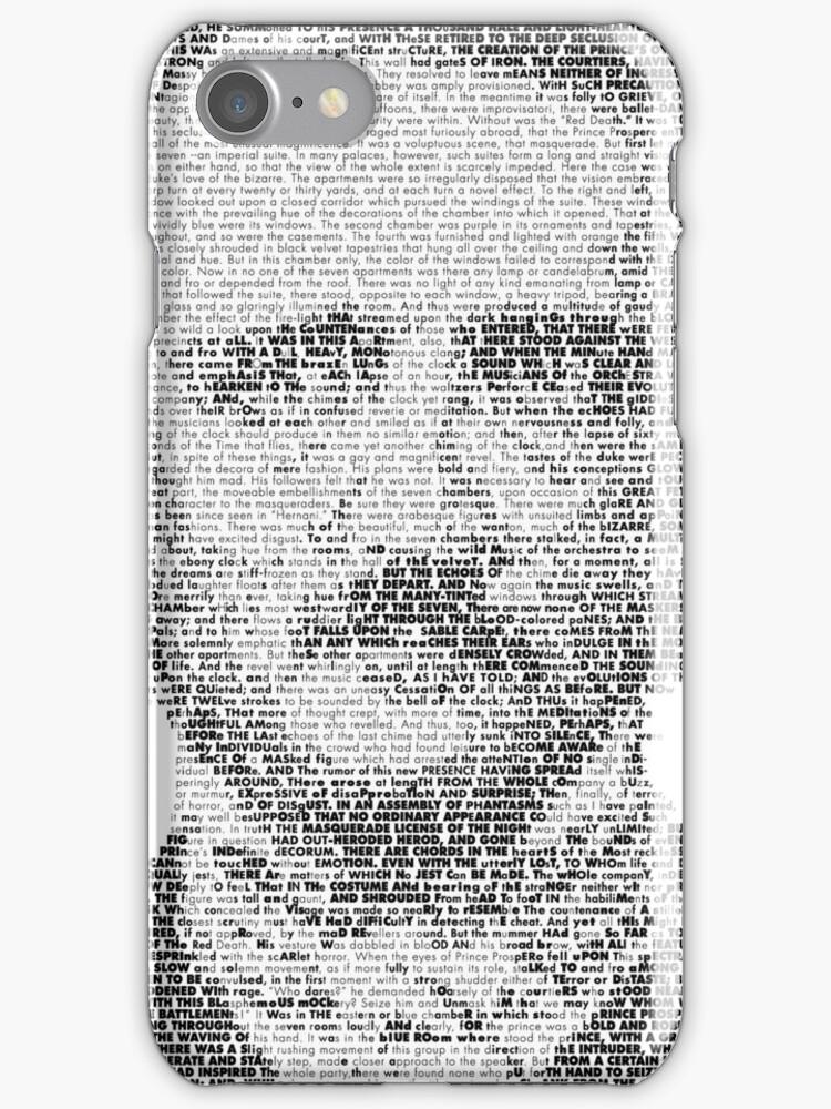 Edgar Allen Poe Text Portrait by SpLotchy