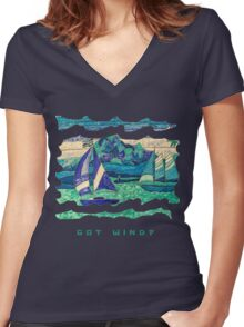 CUTE SAIL BOATS FUNNY QUOTE  Women's Fitted V-Neck T-Shirt