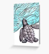 Sea Turtle Hatchling Greeting Card