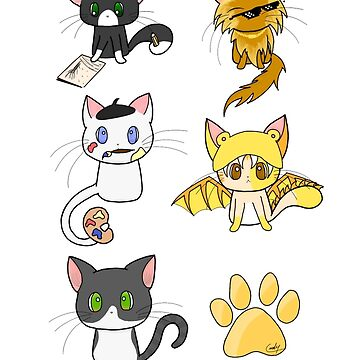 5 Cats 1 Paw Design by Hawkfrost224