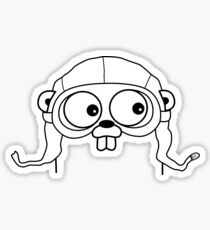 Go Language with headgear Sticker