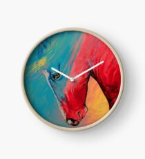 Gemaltes Pferd Uhr