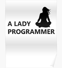 A Lady Programmer Poster
