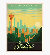 Vintage poster - Seattle Photographic Print