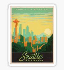 Pegatina Cartel vintage - Seattle
