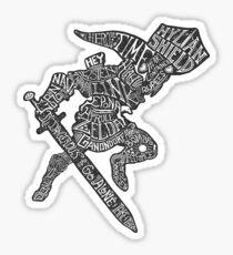 A Hylian Hero Sticker