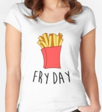 Fry Day Women's Fitted Scoop T-Shirt