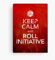 Keep Calm and Roll Initiative (Print) Canvas Print