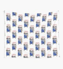 calvin and hobbes police box  Wall Tapestry