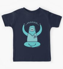 Om Yoga Sloth - blue Kids Clothes