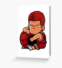 Tensai Basket Ball Man  Greeting Card