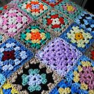 Multicoloured Knitted Cot Blanket by BlueMoonRose