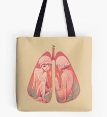 Between Two Lungs Tote Bag