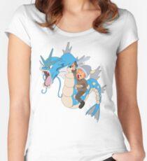 Gyarados pokemon Women's Fitted Scoop T-Shirt