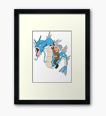 Gyarados pokemon Framed Print