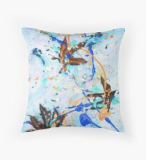 Blue Candy with Leaves! Throw Pillow