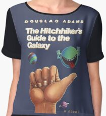 The Hitchhiker's Guide to the Galaxy - Cover Women's Chiffon Top