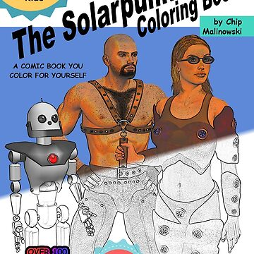 SolarPunk Coloring Book - Front Cover by Wyldspace