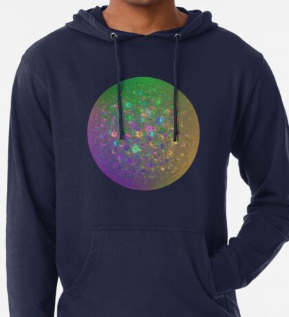 Planet Two #Fractal Art Lightweight Hoodie