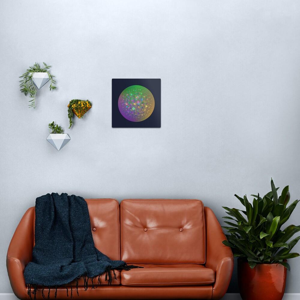 Planet Two #Fractal Art Metal Print