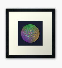 Planet Two #Fractal Art Framed Print