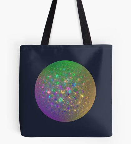 Planet Two #Fractal Art Tote Bag