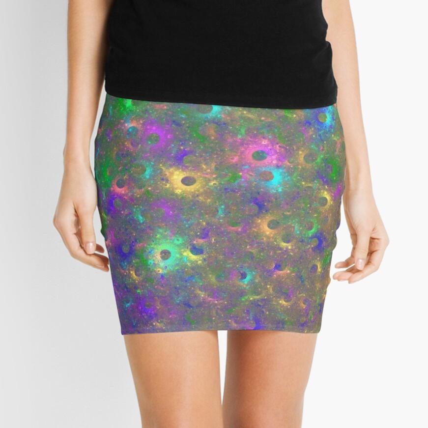 Planet Two #Fractal Art Mini Skirt