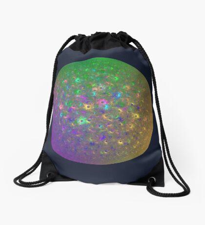 Planet Two #Fractal Art Drawstring Bag