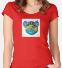 Aussie icons koala mask Women's Fitted Scoop T-Shirt