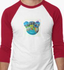 Aussie icons koala mask Men's Baseball ¾ T-Shirt