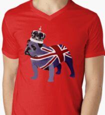 English Bulldog Mens V-Neck T-Shirt
