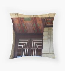 Painted Eaves, Gridded Windows, Frank Lloyd Wright Throw Pillow