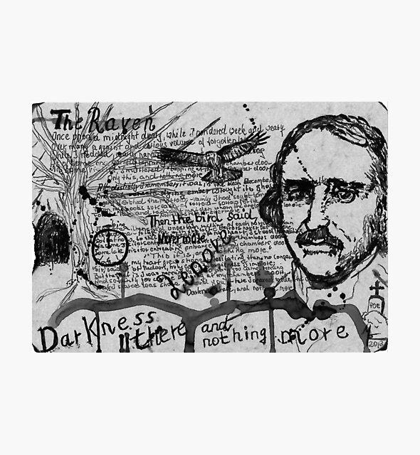 Edgar Allen Poe - The Raven - Dichter - Poet - Schriftsteller von Marion Waschk