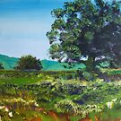 Devon Sun - Landscape Painting English Countryside by MikeJory
