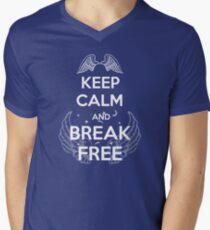 Keep Calm and Break Free Men's V-Neck T-Shirt