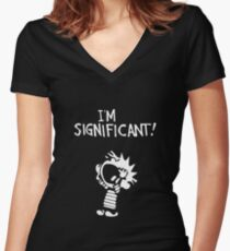 Calvin and Hobbes - I'm Significant Women's Fitted V-Neck T-Shirt