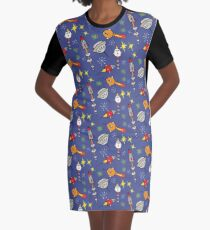 Space ships Graphic T-Shirt Dress