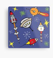 Space ships Metal Print