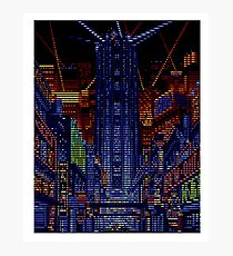 New Kobe City pixels and scanlines Photographic Print