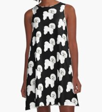 Bichon Frise dog A-Line Dress