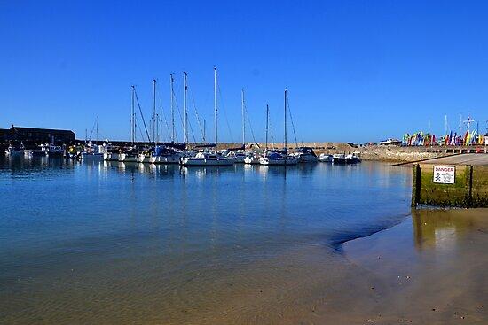 Pretty Morning Blues at Lyme Dorset UK by lynn carter