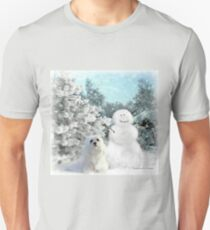 Snowdrop the Maltese & The Snowman T-Shirt
