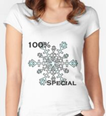 100% Special Snowflake Women's Fitted Scoop T-Shirt