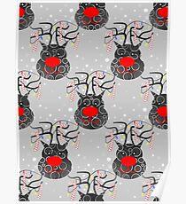 Reindeer Nose Poster