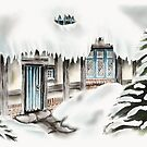 Cosy Cottage in the Winter Snow by Rasendyll