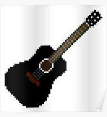 Black acoustic guitar Poster